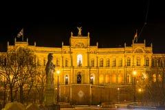 Maximilianeum in Munich at night Royalty Free Stock Photos