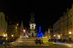 Maximilianstreet and St. Ulrich Basilica in the Royalty Free Stock Photos