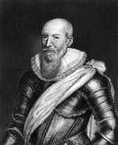 Maximilien de Bethune, hertig av befläcker Arkivbild