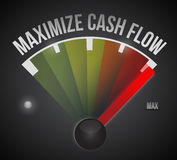 Maximize cash flow mark illustration design Royalty Free Stock Photos