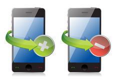 Maximize and close phone icons Stock Photo