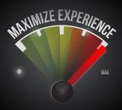 Maximize experience illustration design Royalty Free Stock Photos
