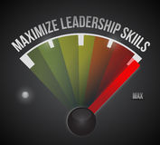 Maximize leadership skills to the max illustration Royalty Free Stock Images