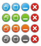 Maximize minimize circle buttons Royalty Free Stock Photo