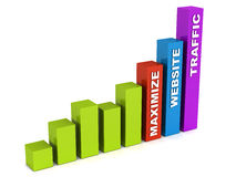 Maximize website traffic Stock Photography