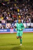 Maximo Banguera #1 after ecuadorian goal Stock Images