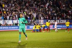 Maximo Banguera #1 after ecuadorian goal Royalty Free Stock Photography