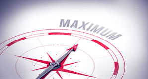 Maximum against compass Royalty Free Stock Images