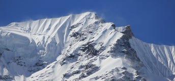 Maximum av det Langtang Himal området, Nepal Fotografering för Bildbyråer