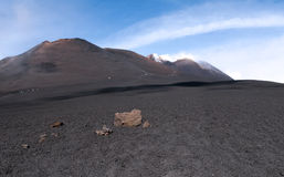 Maximum av monteringen Etna royaltyfria foton