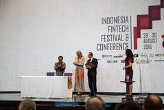 Maximum de la Reine de la visite de Netherland vers l'Indonésie Image libre de droits