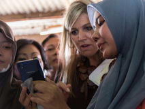 Maximum de la Reine de la visite de Netherland vers l'Indonésie Photo stock