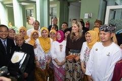 Maximum de la Reine de la visite de Netherland vers l'Indonésie Photos stock