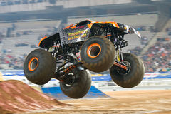 Maximum Destruction Monster Truck. BARCELONA, SPAIN - NOVEMBER 12: Tom Meents driving the Maximum Destruction Monster Truck during a Monster Jam spectacle, on royalty free stock image