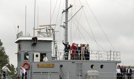 Maximum du Roi Willem Alexander et de reine saluant le citiz néerlandais Image libre de droits