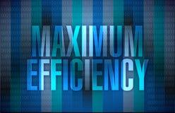 Maximum efficiency sign illustration Royalty Free Stock Photo