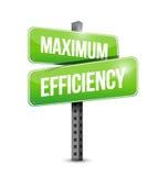 Maximum efficiency street sign Stock Photo