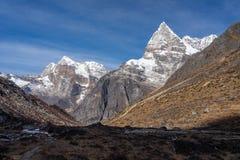 Maximum för maximum 43 eller Kyashar i den Mera regionen, Nepal Arkivbild
