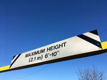 Maximum height warning sign Royalty Free Stock Image