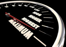 Maximum High More Best Results Speedometer Stock Photos