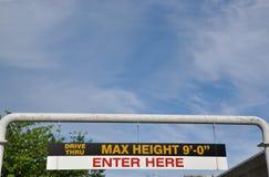Maximum hoogteteken Royalty-vrije Stock Foto