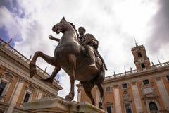 Maximum horse power, statue in Rome. Stock Image