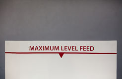 Maximum Level Feed Royalty Free Stock Photos