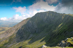 Maximum på Cadiar Idris i Dolgellau, Snowdonia, norr Wales Royaltyfria Bilder