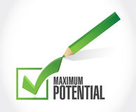 maximum potential check mark sign concept Royalty Free Stock Photo