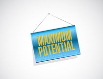 maximum potential hanging banner sign concept Royalty Free Stock Image
