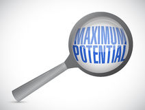 Maximum potential magnify sign concept Stock Photography