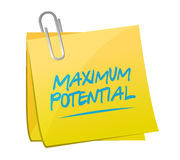 maximum potential memo sign concept illustration Royalty Free Stock Photo