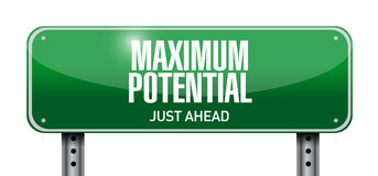 maximum potential road sign concept illustration Royalty Free Stock Photo