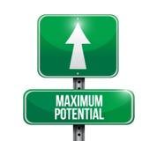 Maximum potential road sign concept illustration Stock Photos