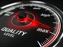Maximum Quality concept - quality level meter Stock Photos