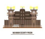Maximum security prison with prisoner vehicle Stock Photos