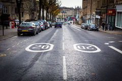 Maximum snelheid in de stad Royalty-vrije Stock Foto's