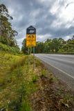 Maximum snelheid voor Tasmaanse Duivel kruising Royalty-vrije Stock Afbeeldingen