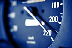Maximum speed. 220 km/h royalty free stock photo