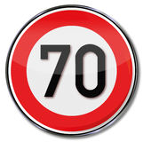 Maximum speed 70 Royalty Free Stock Photo