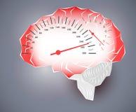Maximum speed of human brain Royalty Free Stock Photos