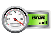 Maximum speed meter Royalty Free Stock Photography