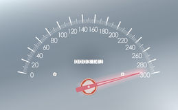 Maximum speed on the speedometer.  Stock Photography