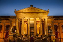 Maximum theater in Palermo. The maximum theater in Palermo in Sicily Stock Images