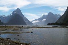 maximumet för parken för fiordlandmilfordmitren ljuder det nationella nya zealand Arkivfoto