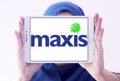 Maxis komunikacj logo Obrazy Stock