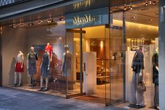 MaxMara store Royalty Free Stock Photo