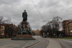 Maxmonumenten, monument av Maximilian II av Bayern Arkivfoto