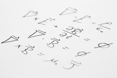 Maxwell Equations Slant Stock Images