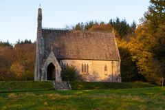 Maxwelton Church, Dumfriesshire, Southern Scotland in Autumn royalty free stock photo